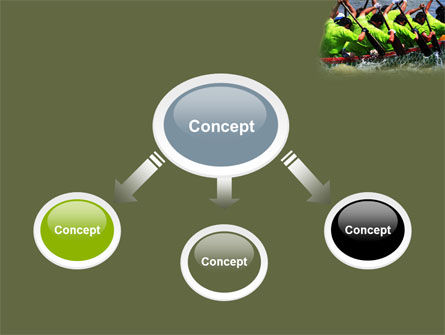 Boat Race PowerPoint Template, Slide 4, 07053, Sports — PoweredTemplate.com