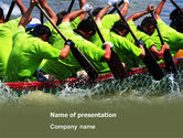 Sports: Boat Race PowerPoint Template #07053