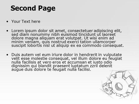 Functioning Gears PowerPoint Template, Slide 2, 07054, Utilities/Industrial — PoweredTemplate.com