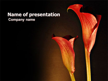 Agriculture: Red Calla PowerPoint Template #07056