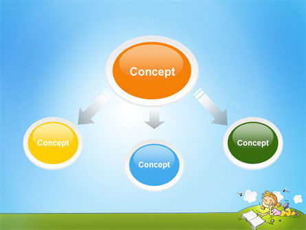 Carefree Child PowerPoint Template, Slide 4, 07057, Education & Training — PoweredTemplate.com