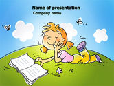 Education & Training: Carefree Child PowerPoint Template #07057