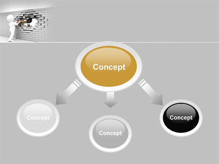 Breaking the Wall PowerPoint Template, Slide 4, 07058, Business Concepts — PoweredTemplate.com