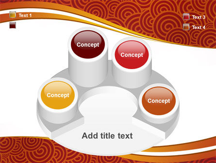 Red Spirals Theme PowerPoint Template Slide 12