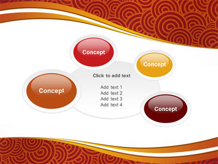 Red Spirals Theme PowerPoint Template Slide 16