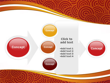 Red Spirals Theme PowerPoint Template Slide 17