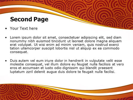 Red Spirals Theme PowerPoint Template Slide 2