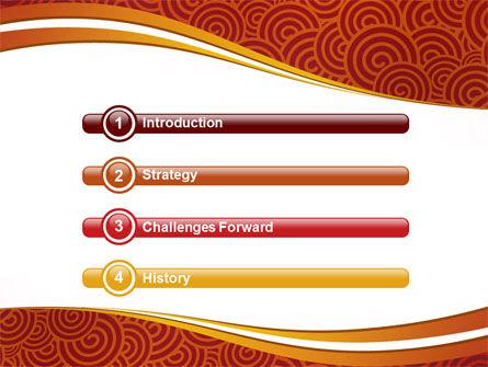 Red Spirals Theme PowerPoint Template, Slide 3, 07061, Abstract/Textures — PoweredTemplate.com