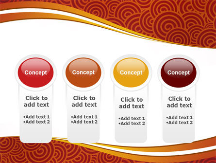 Red Spirals Theme PowerPoint Template Slide 5