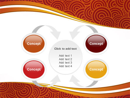 Red Spirals Theme PowerPoint Template Slide 6