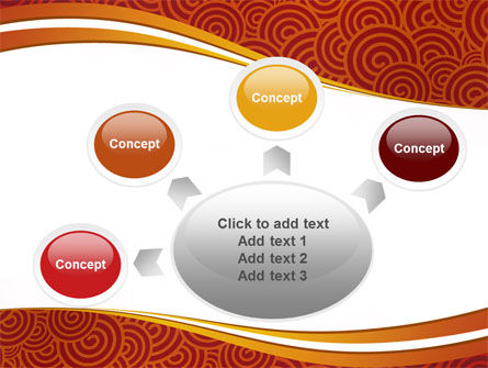 Red Spirals Theme PowerPoint Template Slide 7