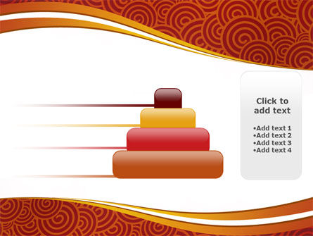 Red Spirals Theme PowerPoint Template Slide 8
