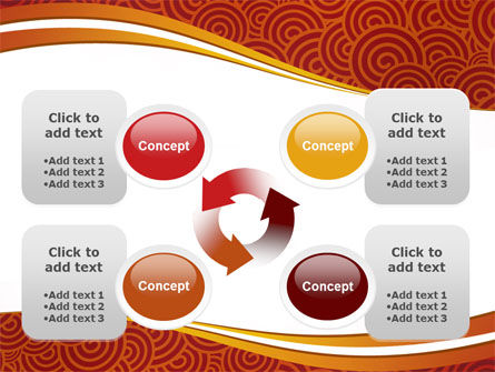 Red Spirals Theme PowerPoint Template Slide 9