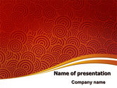 Abstract/Textures: Red Spirals Theme PowerPoint Template #07061