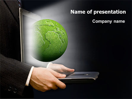Green Solutions PowerPoint Template, 07063, Global — PoweredTemplate.com