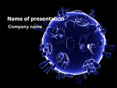 Medical: Biological Virus PowerPoint Template #07065