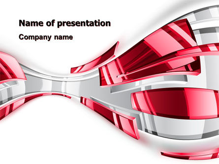 Abstract Shiny PowerPoint Template, 07066, Abstract/Textures — PoweredTemplate.com
