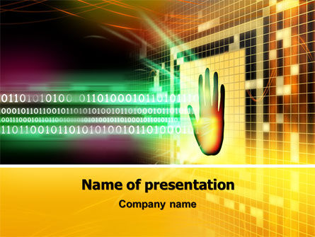 Computer Identification PowerPoint Template, 07067, Technology and Science — PoweredTemplate.com