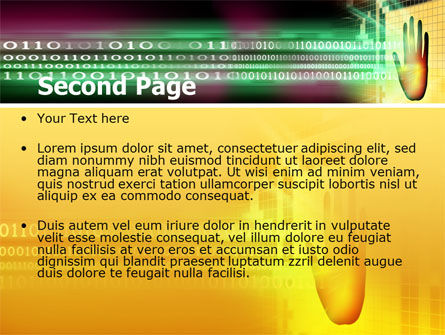 Computer Identification PowerPoint Template, Slide 2, 07067, Technology and Science — PoweredTemplate.com
