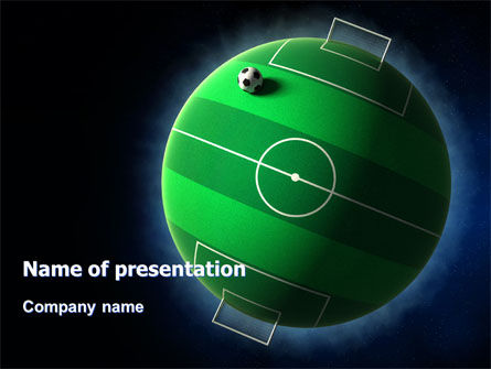 football planet powerpoint template, backgrounds | 07068, Presentation templates