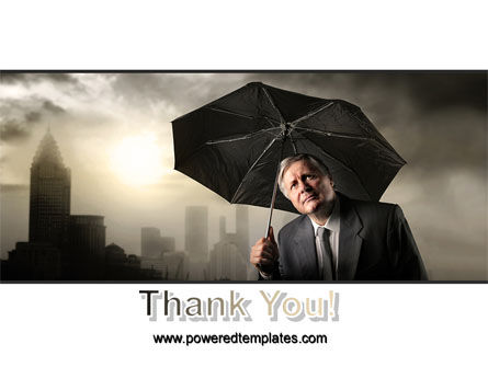 Umbrella Man PowerPoint Template Slide 20