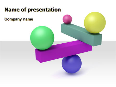 Consulting: Balanced Balls And Beams PowerPoint Template #07070