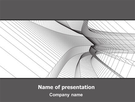 Abstract Tunnel Turn PowerPoint Template, 07071, Construction — PoweredTemplate.com