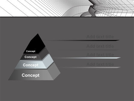 Abstract Tunnel Turn PowerPoint Template Slide 12