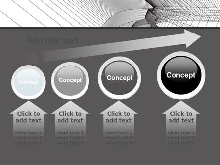 Abstract Tunnel Turn PowerPoint Template Slide 13