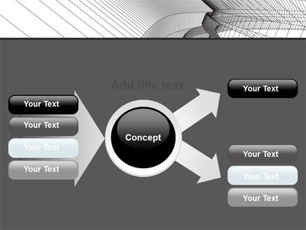 Abstract Tunnel Turn PowerPoint Template Slide 14