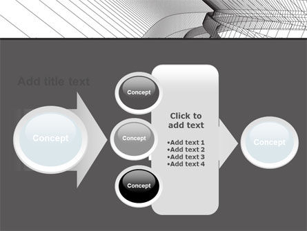Abstract Tunnel Turn PowerPoint Template Slide 17