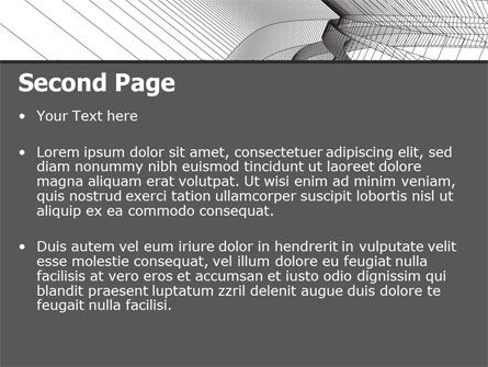 Abstract Tunnel Turn PowerPoint Template, Slide 2, 07071, Construction — PoweredTemplate.com