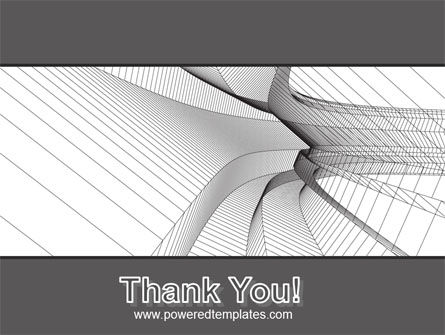 Abstract Tunnel Turn PowerPoint Template Slide 20