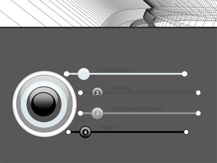 Abstract Tunnel Turn PowerPoint Template Slide 3