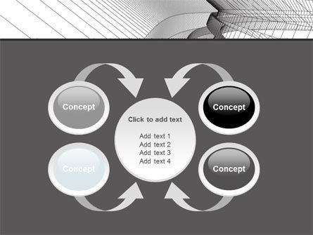 Abstract Tunnel Turn PowerPoint Template Slide 6