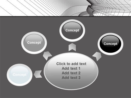 Abstract Tunnel Turn PowerPoint Template Slide 7