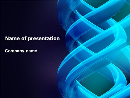 Abstract/Textures: Blue Helix PowerPoint Template #07072