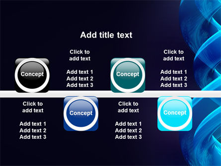 Blue Helix PowerPoint Template Slide 19