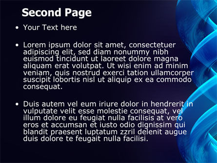 Blue Helix PowerPoint Template, Slide 2, 07072, Abstract/Textures — PoweredTemplate.com