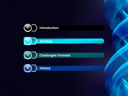 Blue Helix PowerPoint Template, Slide 3, 07072, Abstract/Textures — PoweredTemplate.com