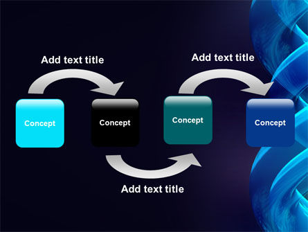 Blue Helix PowerPoint Template, Slide 4, 07072, Abstract/Textures — PoweredTemplate.com