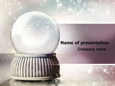 Holiday/Special Occasion: Crystal Ball PowerPoint Template #07073