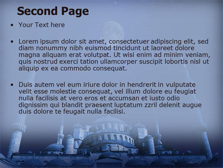 Mosque In Moonlight PowerPoint Template Slide 2