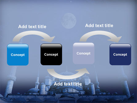Mosque In Moonlight PowerPoint Template Slide 4