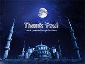 Mosque In Moonlight PowerPoint Template#20