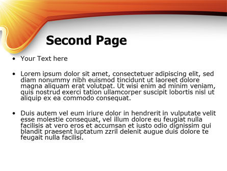 Sun Light Theme PowerPoint Template Slide 2