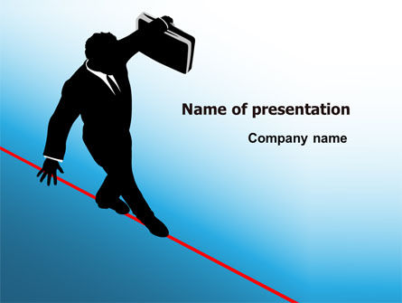 Business Concepts: Rope Walker PowerPoint Template #07078