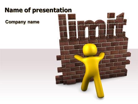Limit PowerPoint Template, 07079, Business Concepts — PoweredTemplate.com