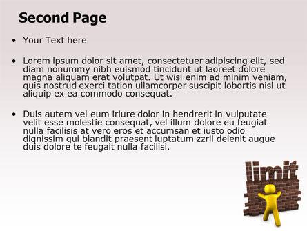 Limit PowerPoint Template, Slide 2, 07079, Business Concepts — PoweredTemplate.com