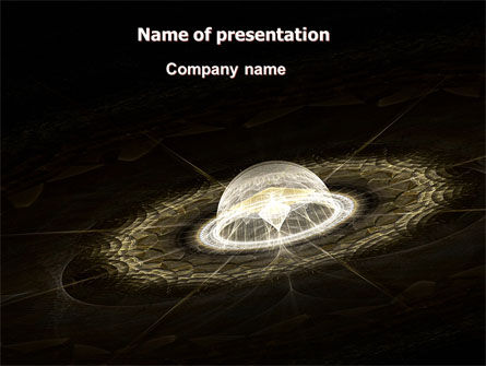 Technology and Science: Fractal Planet PowerPoint Template #07081